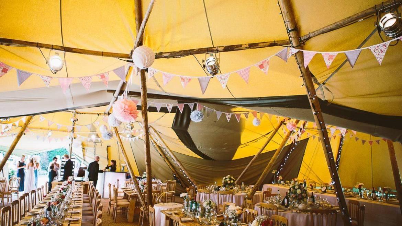 Rob & Chantal's Teepee Wedding