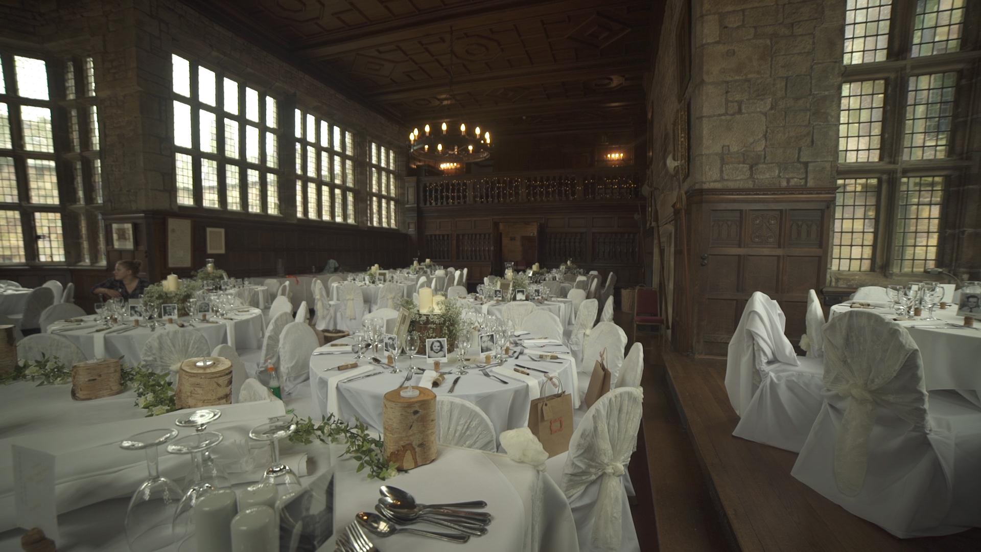 Hoghton Tower dining hall