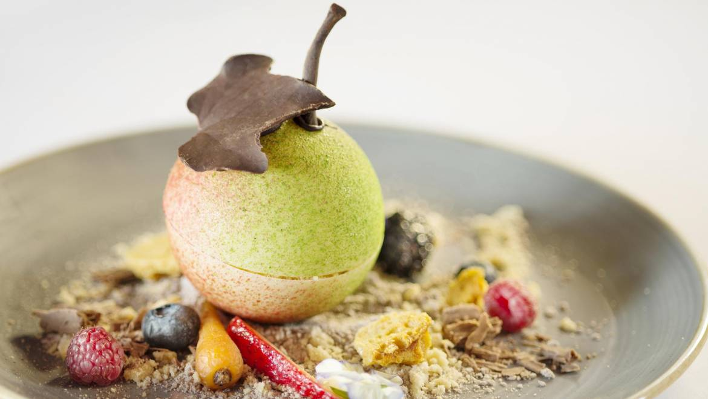 White Chocolate Apple Crumble