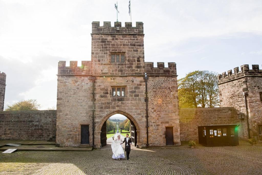 Hoghton Tower wedding couple