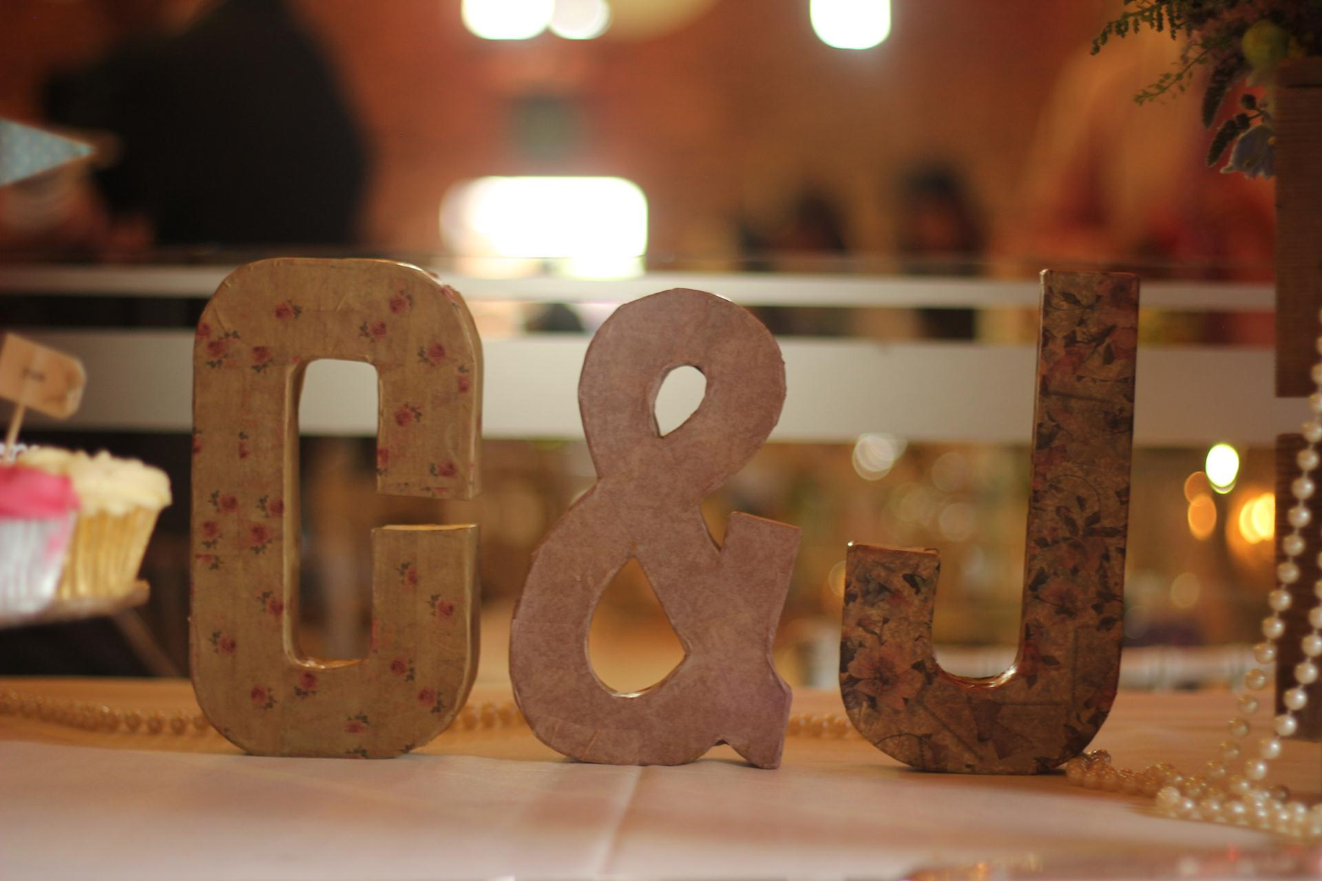 C & J letter symbols