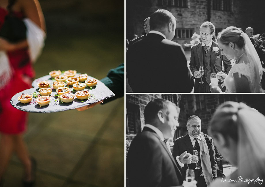 Wedding shots and canapes