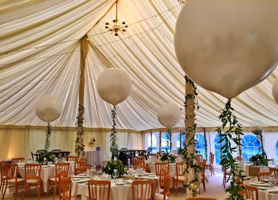 Marquee wedding catering